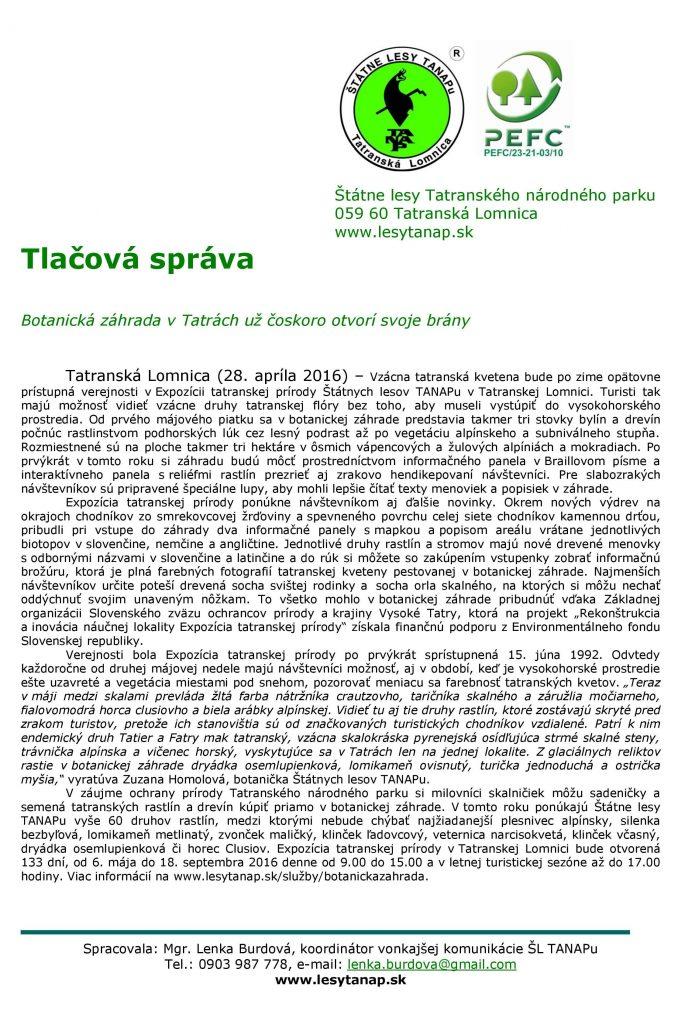 TS - 28.4. - Botanická záhrada už čoskoro otvorí svoje brány-page-001