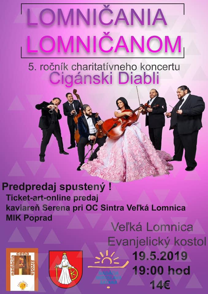 Charitatívny koncert Lomničania Lomničanom