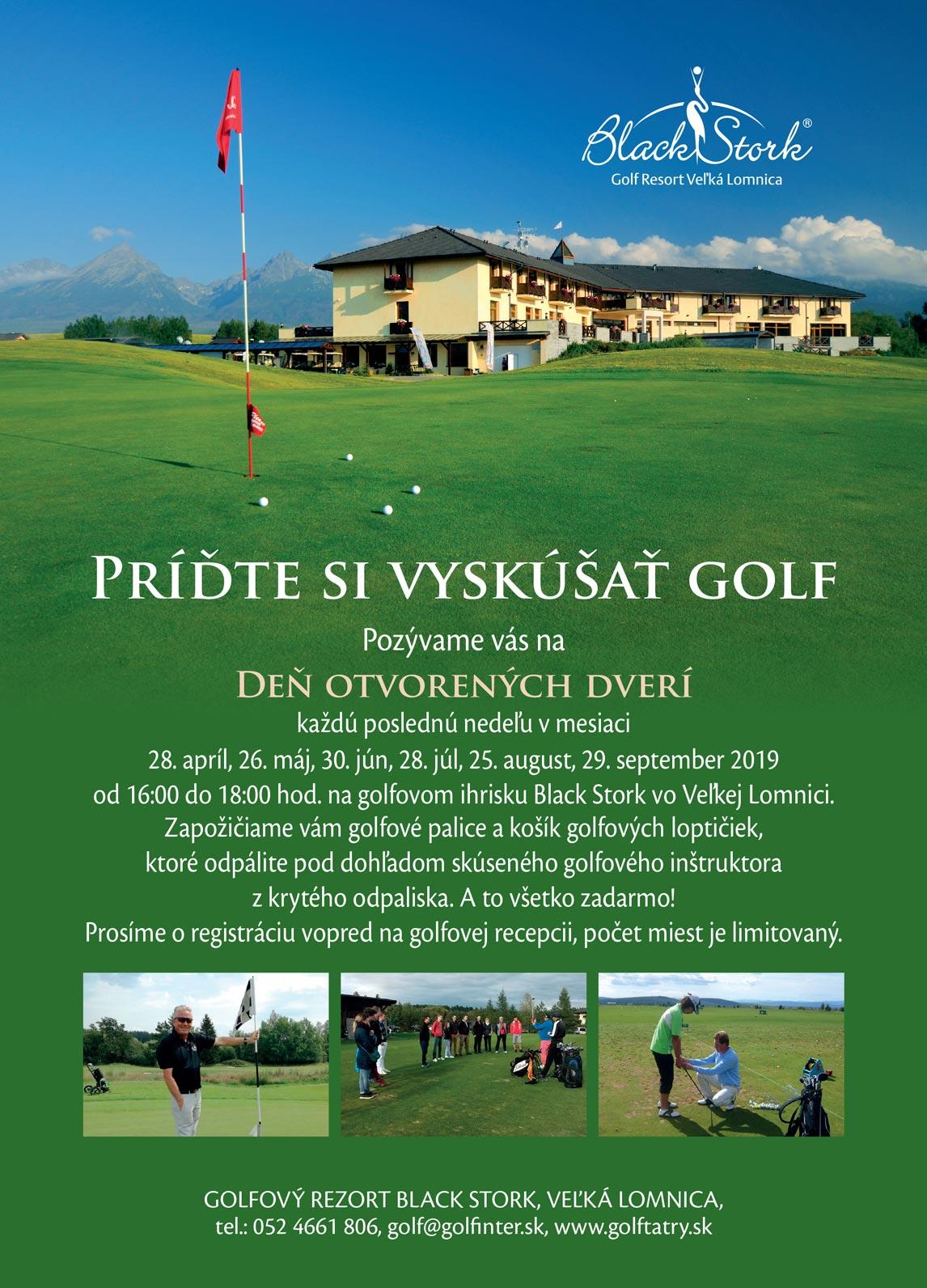 Deň otvorených dverí v golfovom rezorte Black Stork