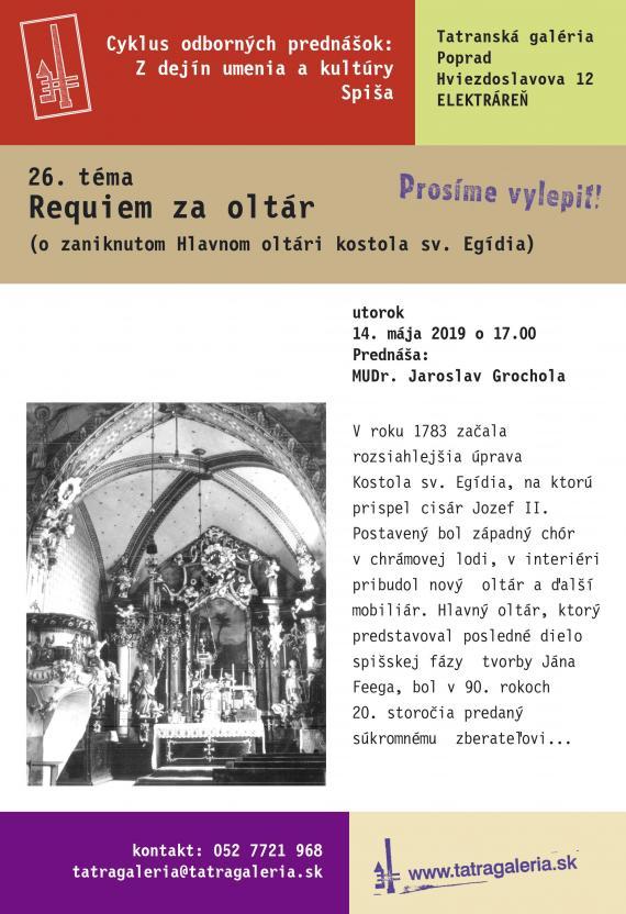 Requiem za oltár