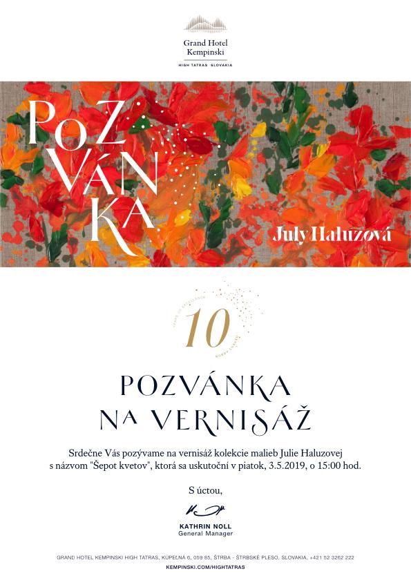 Júlia Haluzová – Šepot kvetov