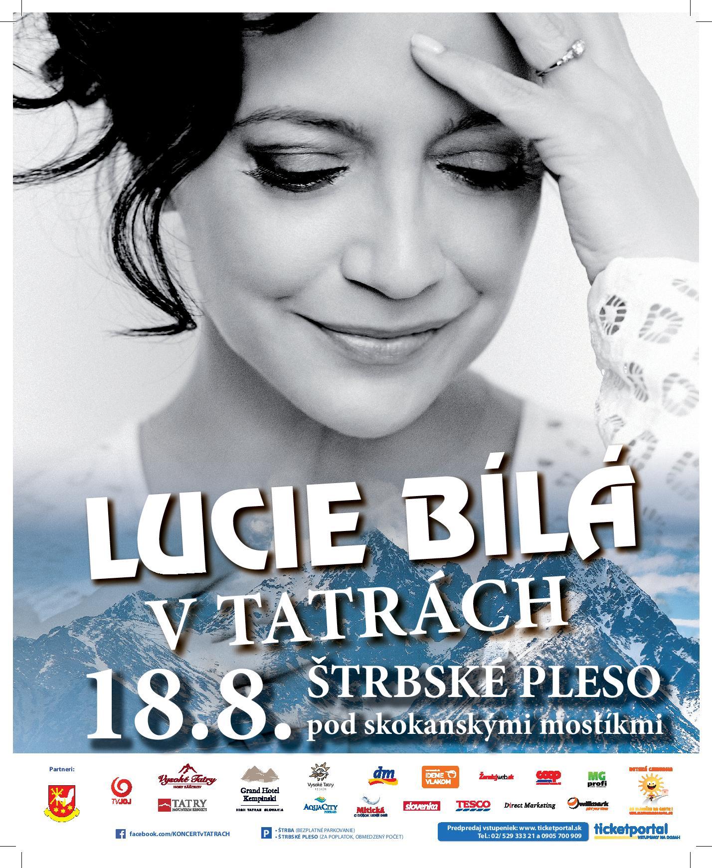 Lucie Bílá v Tatrách
