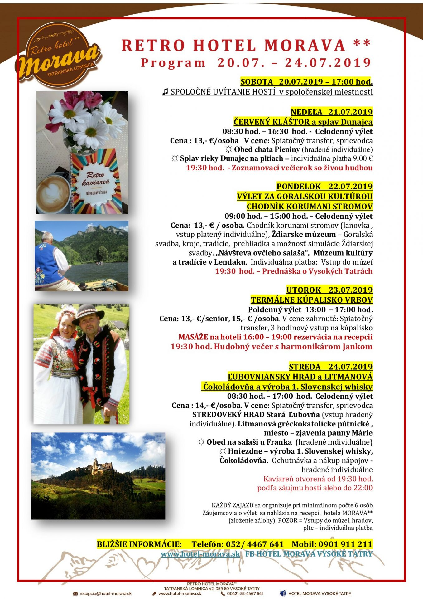 Program Retro Hotela Morava 20.7.-24.7.2019