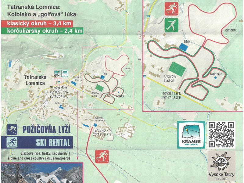 Bežecké trate Tatranská Lomnica