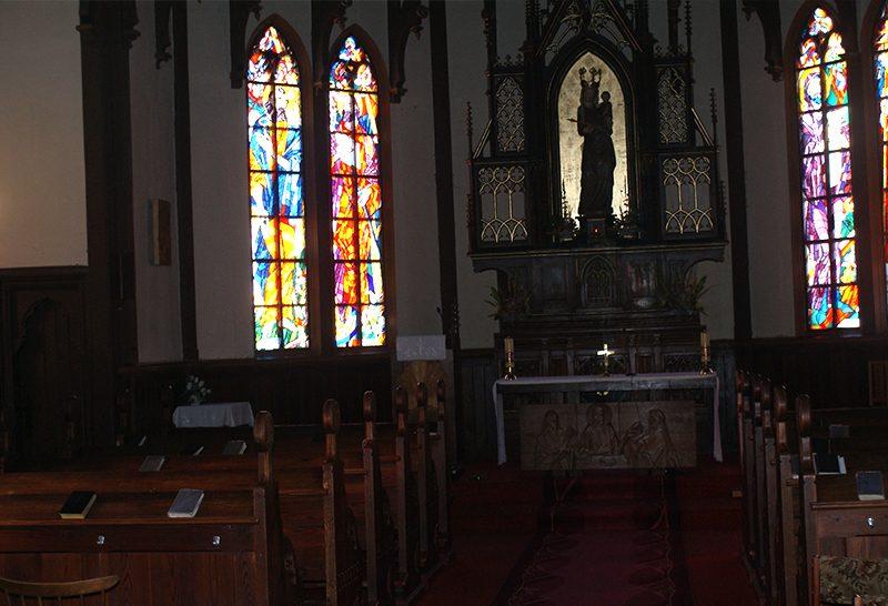 Interiér_r.k._kostol_St._Smokovec