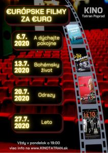 europske filmy za euro poprad tatran