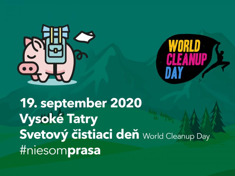 Iniciatíva #niesomprasa podporila Svetový čistiaci deň World Cleanup Day