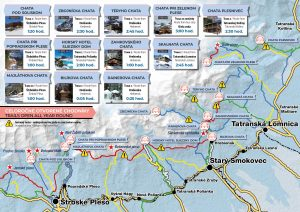mapa zima tatry