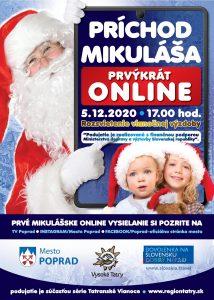 online podujatie mikulas poprad tatry