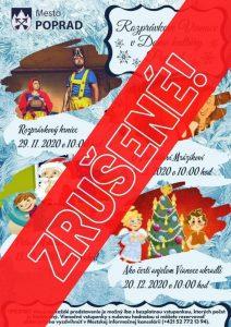 poprad vianoce zrusene rozpravky