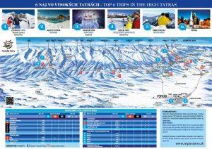 mapa zima vysoke tatry