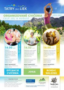vysoke tatry liek cvicenie podujatie leto jul august joga